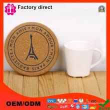 Круглая цветочная набивная подушка для стола с логотипом Paris Logo Picture Cup Mat Pad
