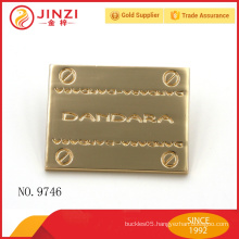 Wholesale custom metal clothing labels with high quality
