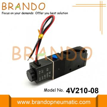 4V210-08 Solenoid Valve For Pneumatic Actuator 120V 240V