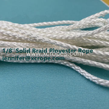 White Solid Braided Polyester Rope Heavy Duty