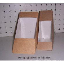 Sanduíche, caixa, papel, levar, afastado, alimento, caixa, alimento, recipiente, biscoitos, embalagem