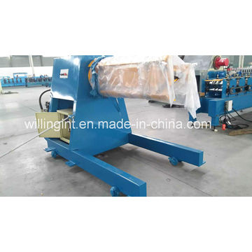 Desenrollador hidráulico de 5 toneladas con carro de bobina para máquina perfiladora en frío