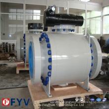 2 Piece Trunnion Mounted Ball Valve Gas Oil Control Valve