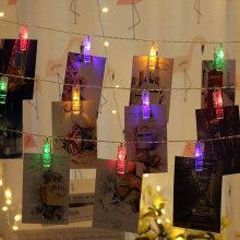 Neue Jahre-Partei-Dekoration führte Foto-Klipp-Lichter