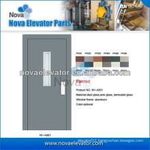 Hairline Elevator Semi-automatic Door with Stainless Steel Surface, 1000mm * 2000mm