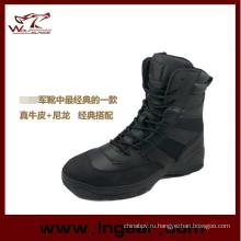 Военный стиль тактические ботинки полиции сапоги без стороне Zip