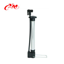2017 Mini aluminum bicycle pump with gauge/OEM service metal bicycle pump for bike/top quality bicycle pump for kids bike