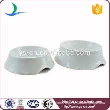 Alimentador de mascota vintage, blanco cerámica Pet Bowl