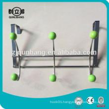 Iron Wire Over Door Hook With Green Beads