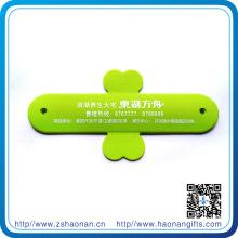 Kundenspezifischer glänzender Farbtelefon-Stand mit Band-Logo für Zelle Ohone