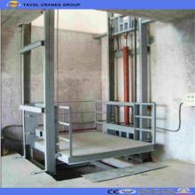Plataforma de elevación de material de almacén vertical hidráulico estacionario