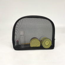 Mesh Cosmetic Bag Mesh Makeup Bags Black Zipper Pouch for Offices Travel Accessories Mesh Laundry Bag