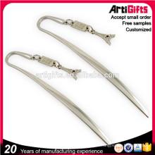 Cheap custom shape custom metal bookmark for books