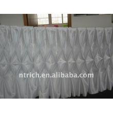 ¡¡¡Fascinante!!! faldas de mesa reunidas falda de tela / falda de mesa de satén de color blanco, estilo panal, diseño de moda