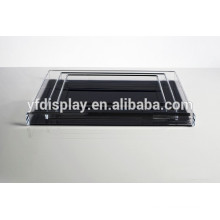 Clear Acrylic Serving Fruit Tray with Black Printing