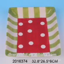 Multi-colorido pulido de artículos de mesa de regalo personalizado de la placa de dolomita, placa de cerámica