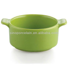 Plato de cazuela de cerámica verde para BS12083D