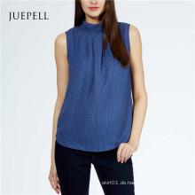 Frauen Blue Top Bluse