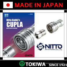 CUPLA Quick Connect Couplings for various pressures. Manufactured by Nitto Kohki. Made in Japan (stainless steel quick coupling)