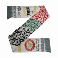 custom oem polyester other scarfs wholesales printing knitted football club fans scarfs