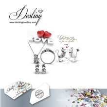 Destiny Jewellery Crystal From Swarovski Especially Set Pendant Ring and Earrings