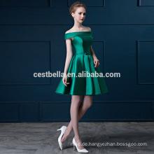 Off-Schulter Frauen formales Abend beiläufiges Kleid kurzes grünes rotes Cocktailkleid kurz