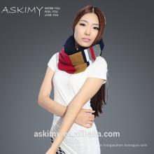 2015 fashion lady 100% wool round neck scarf