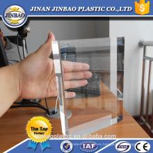 Jinan Jinbao 20mm claro acrílico hoja mesa titular de signos grueso pmma