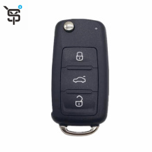 Good price black car remote key for VW 5K0837202AD 3 buton folding remote key with 434 mhz 48 chip