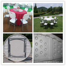 5 Ft High Quality Wholesale Cheap Promotional Blow Mold HDPE Plastic Lightweight Portable Folding Round Table