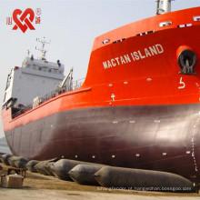 Feito em vendas quentes de China de D = 0.5m-2.0m L = 5m-18m airbag inflável do navio marinho de borracha