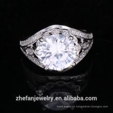 atacado suprimentos de jóias china grande rodada acessórios do casamento anel de forma