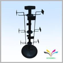 New products fashion black countertop metal rotating display stand for hanging items