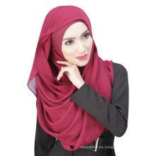 Sombrero y bufanda musulmana del hijab del color sólido fresco de Dubai de la bufanda del verano
