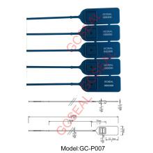 Sécurité de sachet en plastique PP matériel sceller GC-P007
