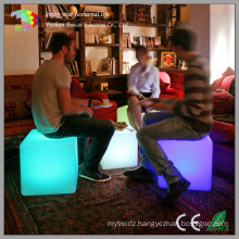 LED Cube Chair with Battery & 16 RGB Light Colors