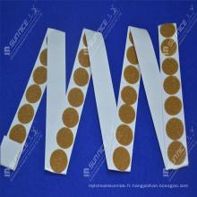 Logo imprimé auto-adhésif collant et pièces de monnaie en boucle