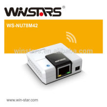 4 port usb 2.0 print Server with power adapter,enables an external hard drive