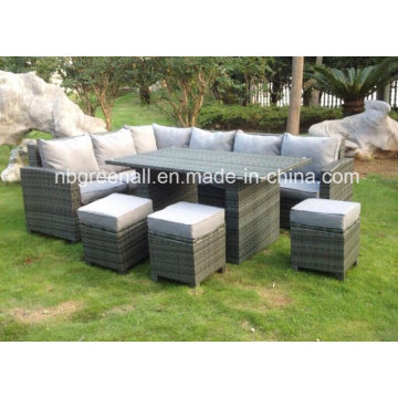 New Design Leisure Rattan Table Setting Outdoor Furniture