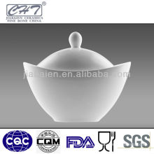 high grade bone china soup bowl with lid
