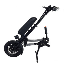 Black color lightweight power electric wheelchair drive kit folding e-wheelchair with wheels for disabled