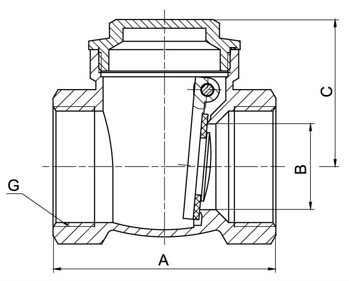 check valve 404 drawing