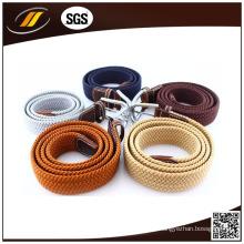 Cinturón de cintura casual elástico trenzado elástico trenzado de tela para unisex