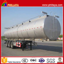 Tri-Axle 6 Compartments 60 Cbm Stainless Steel Fuel Tanker Trailer