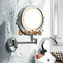 Espejo de afeitar con montaje en la pared LED de 8.5 pulgadas