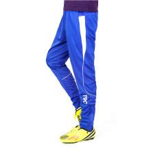 Calças esportivas listradas com bolso com zíper para homens