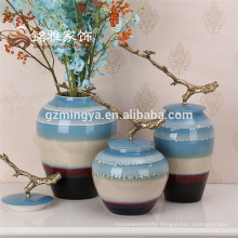 2016 Colored ceramic vase european and american style home decoration lobby new designs laying ceramic floor tiles for home deco
