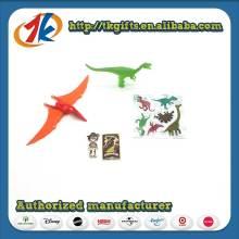 Brinquedo do mini dinossauro dos miúdos com etiquetas 3d