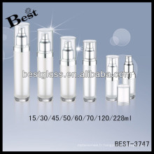 Bouteilles de pompe en acrylique rondes de 228 ml avec bouchon transparent; Bouteilles de lotion acrylique 50/60/70 / 120ml avec lèvre, affichage acrylique de bouteille