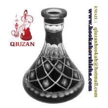 Schöne große schwarz-weiß-Muster Shisha Flasche
